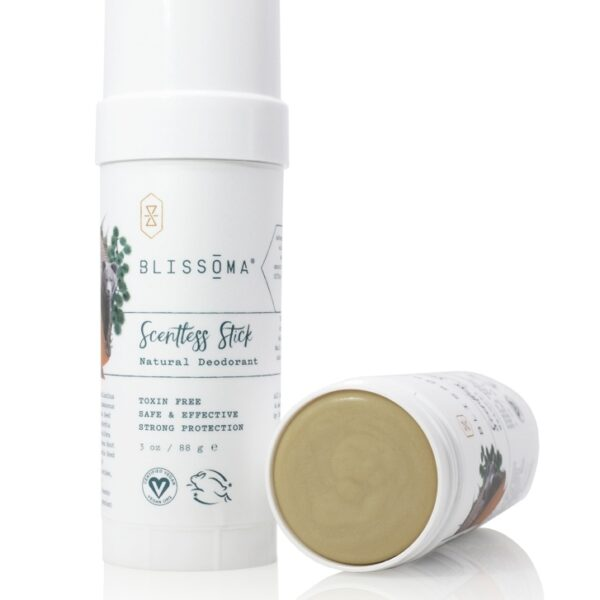 Blissoma - Scentless Stick Solid Natural Mini Deodorant - Beauty Binge